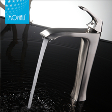 Momali Bathroom Basin Artistic Brass Faucet