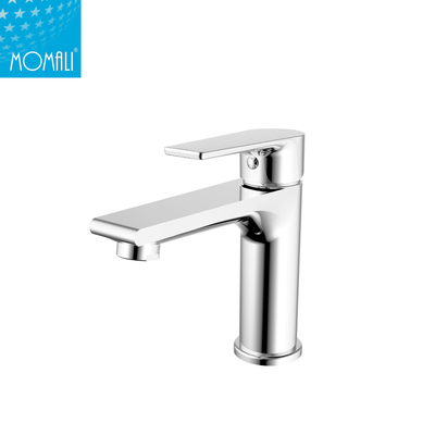 China sanitary ware brass single handle chrome surface treatment basin faucet