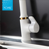 Wholesale white painting single handle faucet european kitchen tap